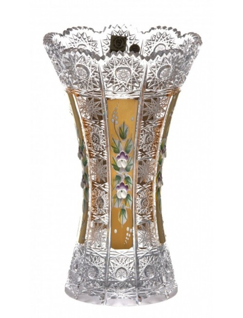Crystal Vase 500K gold, color clear crystal, height 230 mm