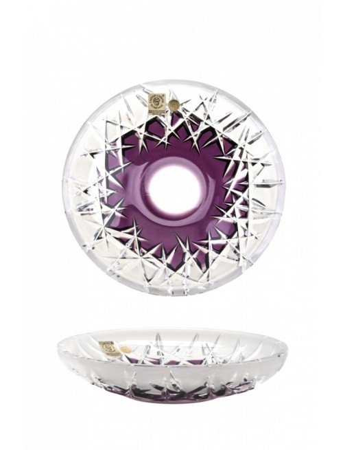 Crystal Plate Hoarfrost, color violet, diameter 180 mm