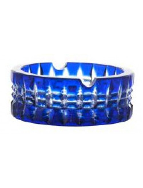 Crystal ashtray Brilant, color blue, diameter 90 mm