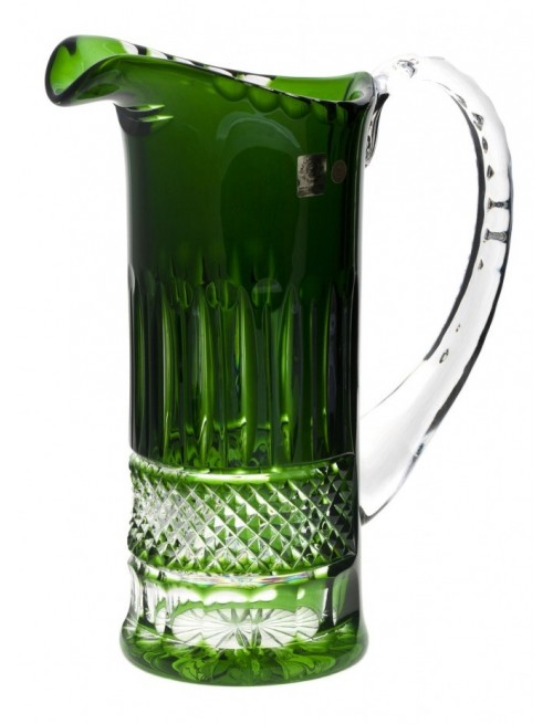 Crystal Pitcher Tomy, color green, volume 1200 ml