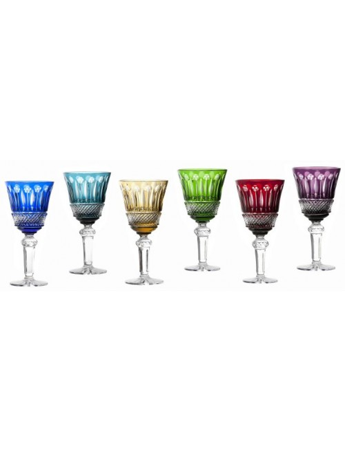 Crystal Set Wine Glass Tomy, color mix, volume 240 ml