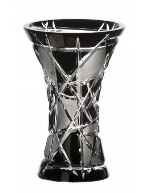 Crystal Vase Mars, color black, height 155 mm