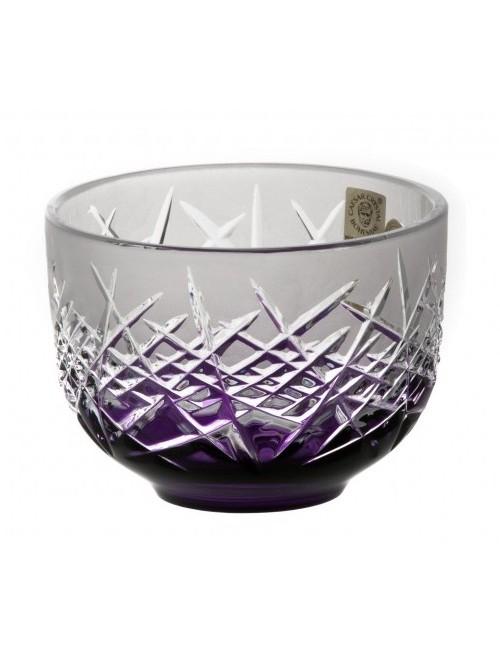 Crystal Bowl Hoarfrost, color violet, diameter 110 mm