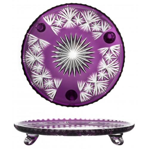 Crystal Plate Grace, color violet, diameter 305 mm
