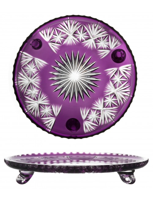 Crystal Plate Grace, color violet, diameter 305 mm