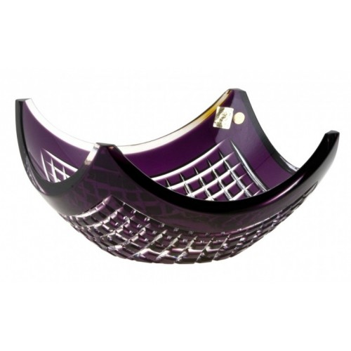 Crystal Bowl Quadrus, color violet, diameter 280 mm