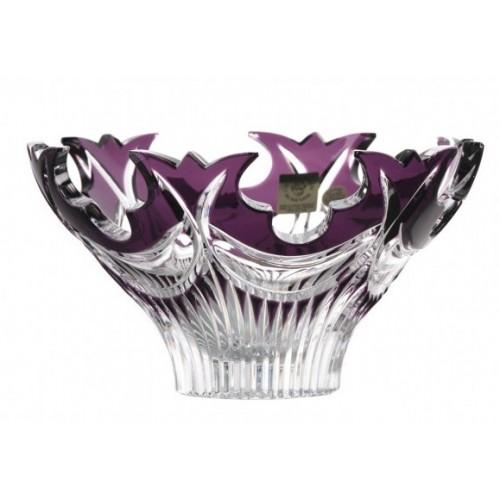 Crystal Bowl Diadem, color violet, diameter 165 mm