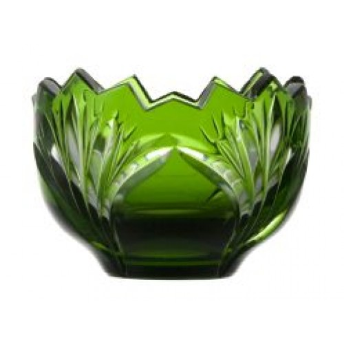 Crystal bowl Jonathan, color green, diameter 95 mm