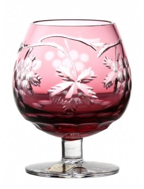 Crystal Glass Brandy Grapes, color ruby, volume 230 ml