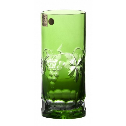 Crystal Glass Grapes, color green, volume 350 ml