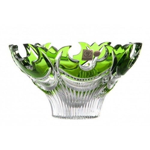 Crystal Bowl Diadem, color green, diameter 165 mm