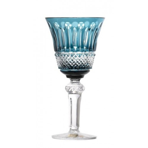 Crystal Wine Glass Tomy, color azure, volume 240 ml