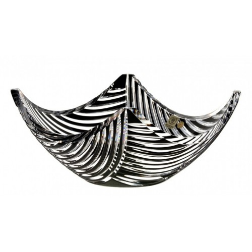 Crystal Bowl Linum, color black, diameter 280 mm