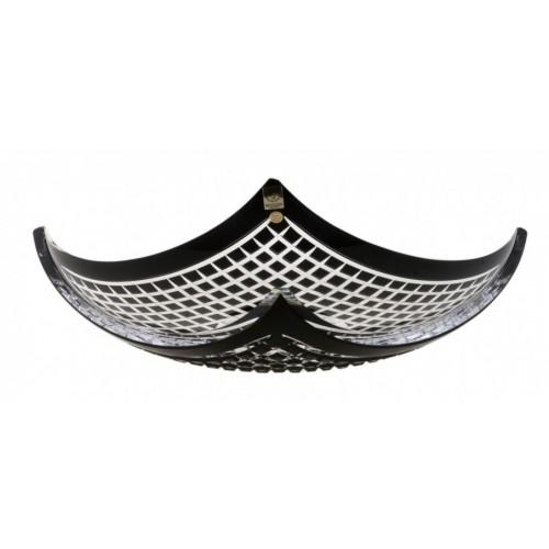 Crystal Bowl Quadrus, color black, diameter 350 mm