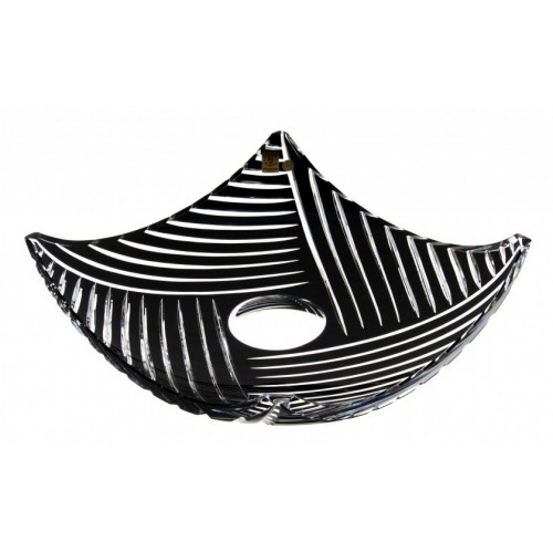 Crystal Bowl Linum, color black, diameter 350 mm