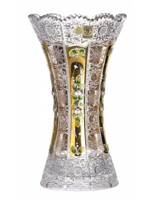 Crystal Vase 500K gold II, color clear crystal, height 305 mm