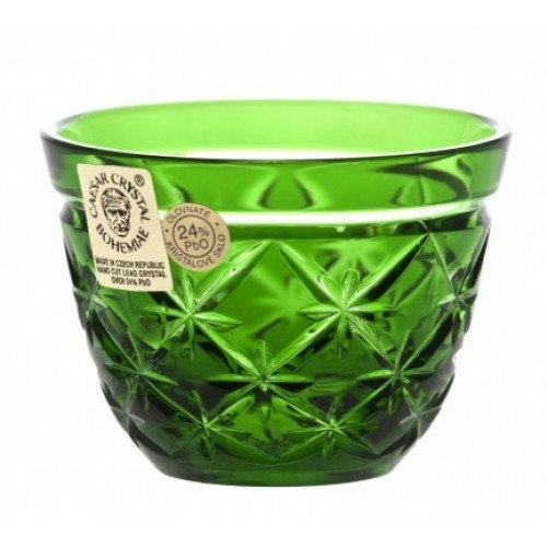 Crystal Shot Glass Charles, color green, volume 65 ml