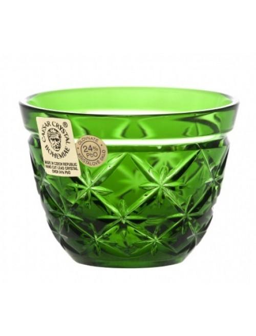 Crystal Shot Glass Charles, color green, volume 65 ml