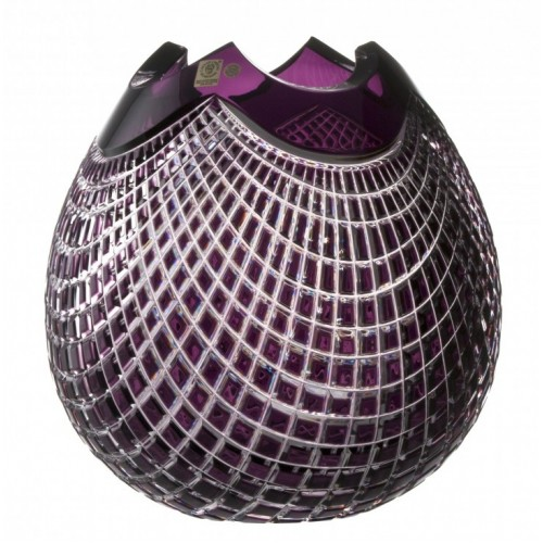 Crystal Vase Quadrus, color violet, height 280 mm