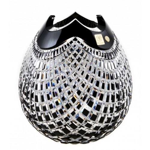 Crystal Vase Quadrus, color black, height 280 mm