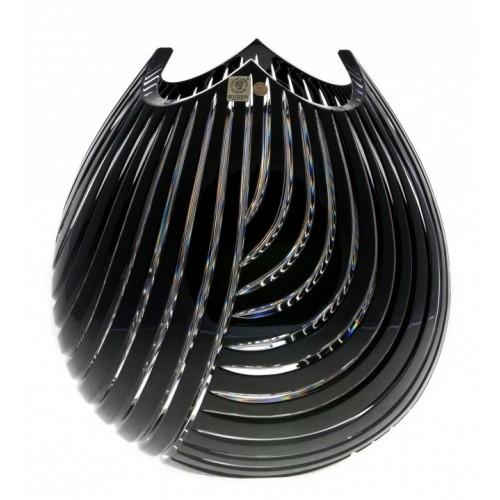 Crystal Vase Linum, color black, height 280 mm