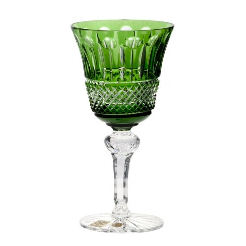 Crystal Wine Glass Tomy, color green, volume 180 ml