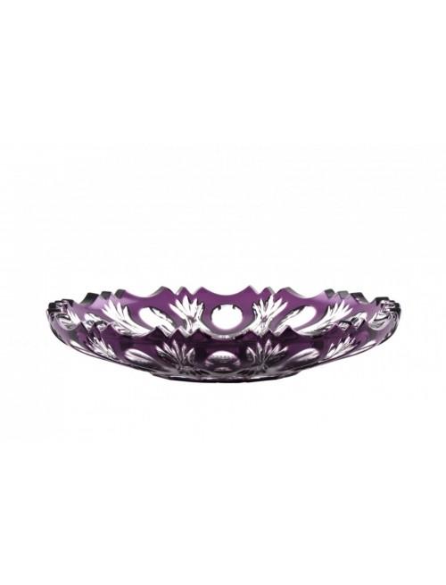 Crystal Plate Dandelion, color violet, diameter 180 mm
