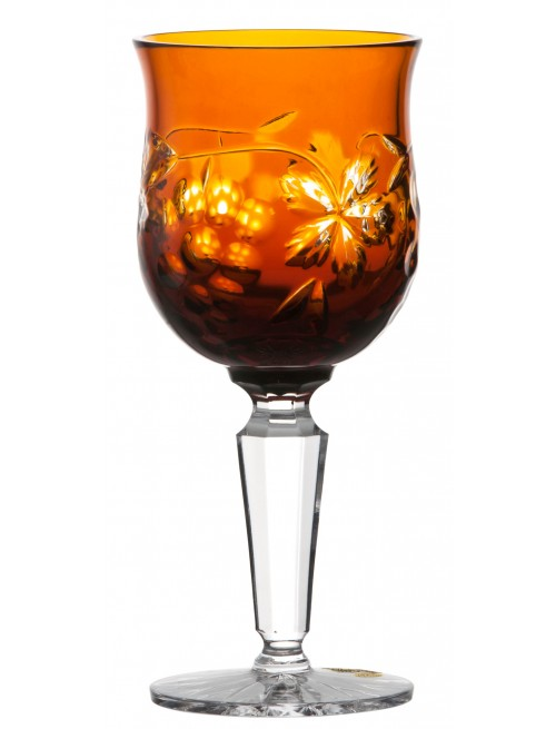Crystal wine glass Grapes, color amber, volume 140 ml