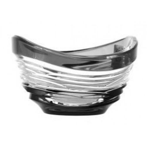 Crystal Bowl Poem, color black, diameter 95 mm