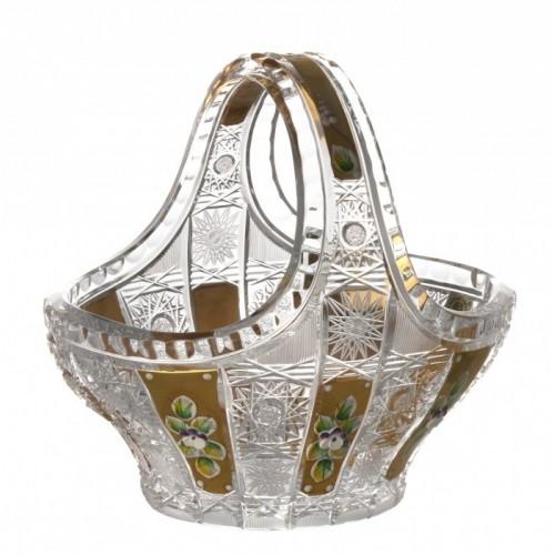 Crystal Basket 500PK gold, color clear crystal, diameter 200 mm