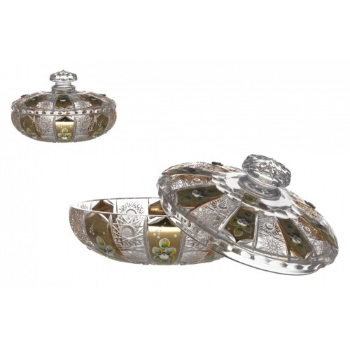 Crystal Box 500K gold, color clear crystal, height 205 mm