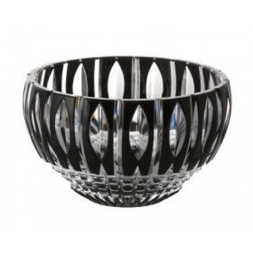 Crystal Bowl Denver, color black, diameter 140 mm