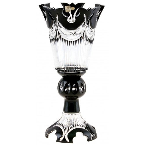 Crystal Vase Diadem, color black, height 355 mm