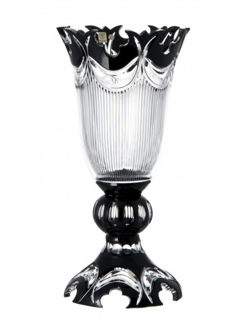 Crystal Vase Diadem, color black, height 430 mm
