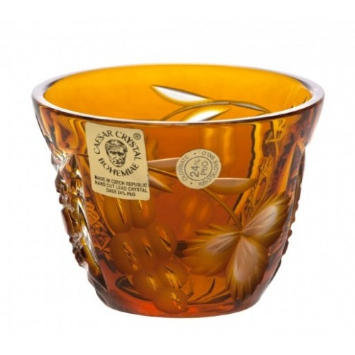 Crystal Shot Glass Nacht vine, color amber, volume 65 ml