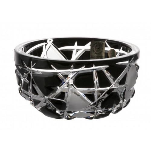 Crystal Bowl Mars II, color black, diameter 116 mm