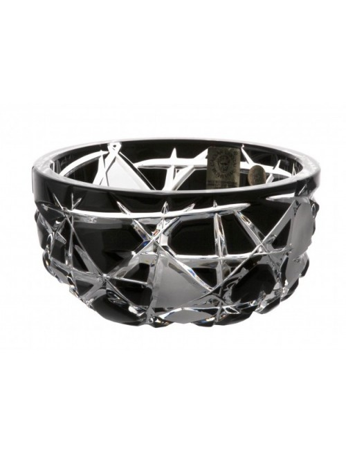 Crystal Bowl Mars II, color black, diameter 116 mm
