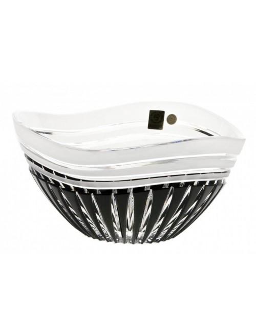 Crystal Bowl Dune, color black, diameter 210 mm