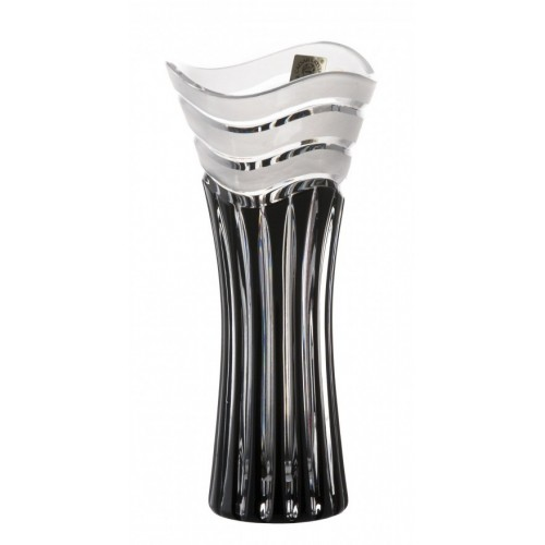 Crystal Vase Dune, color black, height 180 mm