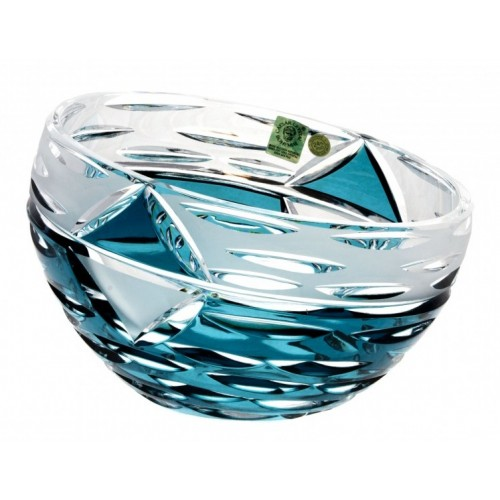 Crystal Bowl Mirage, color azure, diameter 180 mm