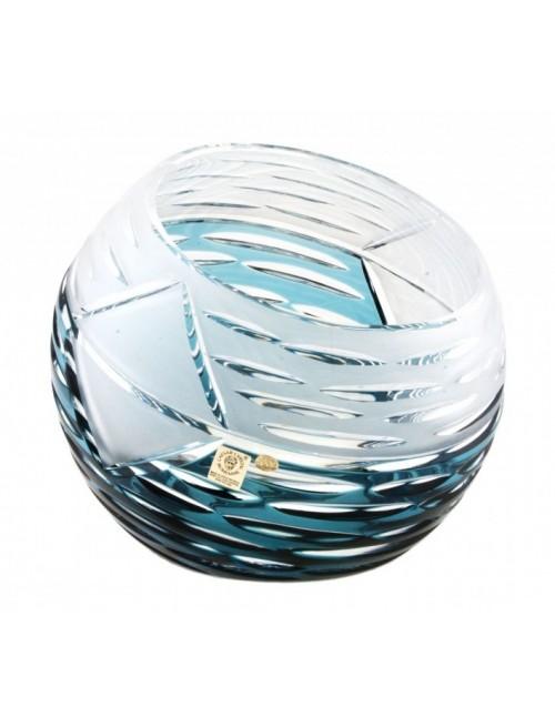 Crystal Vase Mirage, color azure, height 200 mm