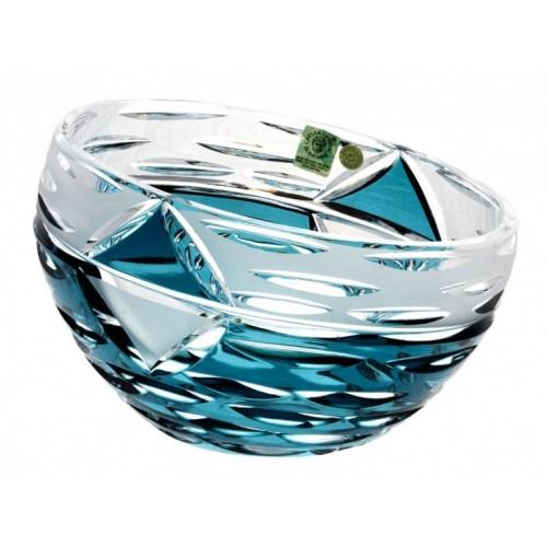 Crystal Bowl Mirage, color azure, diameter 230 mm