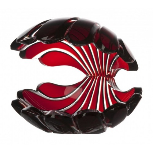 Crystal Seashell, color ruby, height 140 mm