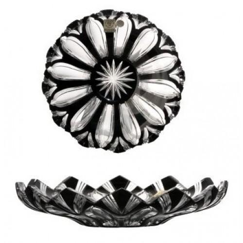 Crystal Plate Lotus, color black, diameter 180 mm