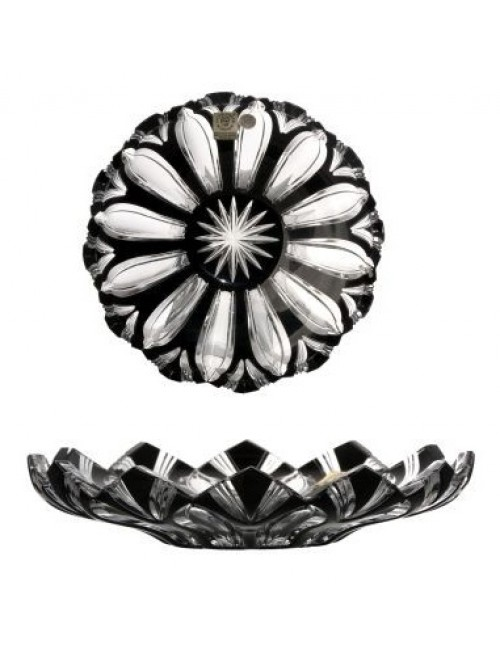 Crystal Plate Lotus, color black, diameter 180 mm