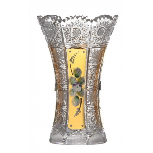 Crystal Vase 500K gold I, color clear crystal, height 180 mm