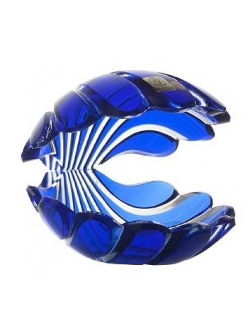 Crystal Seashell, color blue, height 140 mm