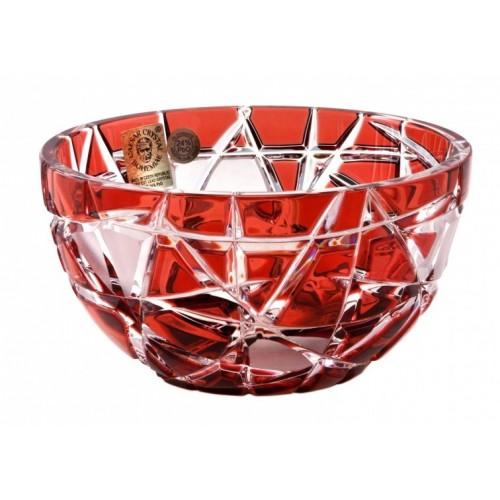 Crystal Bowl Mars, color ruby, diameter 116 mm