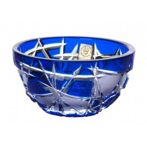 Crystal Bowl Mars, color blue, diameter 116 mm