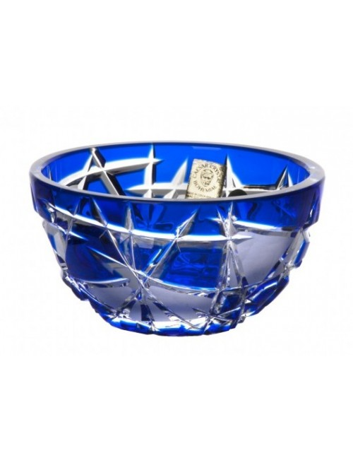 Crystal Bowl Mars, color blue, diameter 116 mm